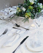 Glisten table setting